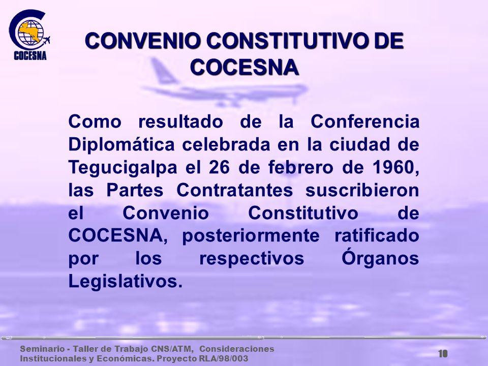 CONVENIO CONSTITUTIVO DE COCESNA