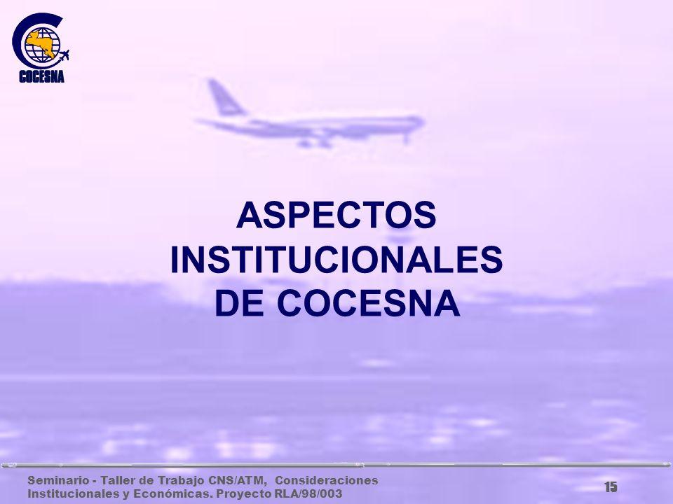 ASPECTOS INSTITUCIONALES DE COCESNA