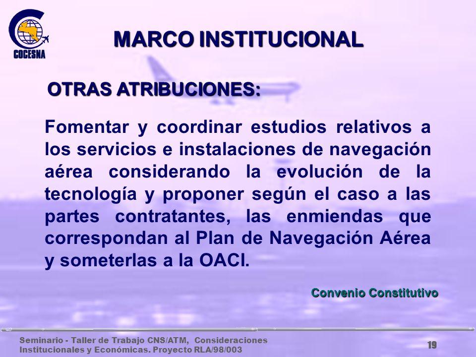 MARCO INSTITUCIONAL OTRAS ATRIBUCIONES: