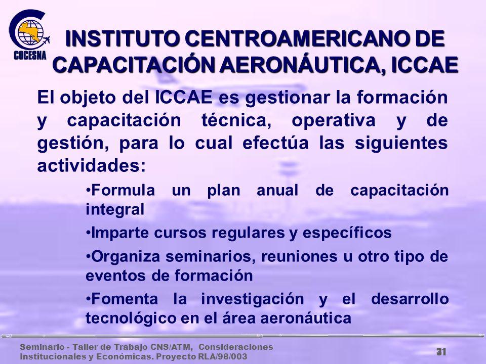 INSTITUTO CENTROAMERICANO DE CAPACITACIÓN AERONÁUTICA, ICCAE