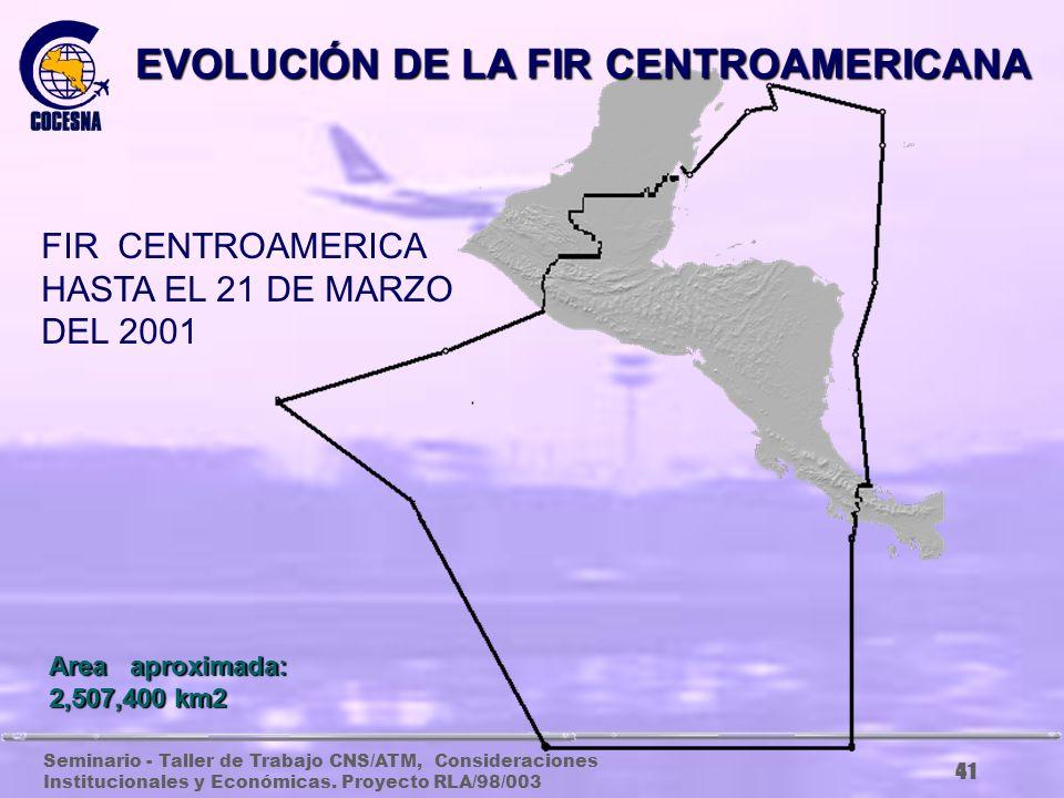 EVOLUCIÓN DE LA FIR CENTROAMERICANA