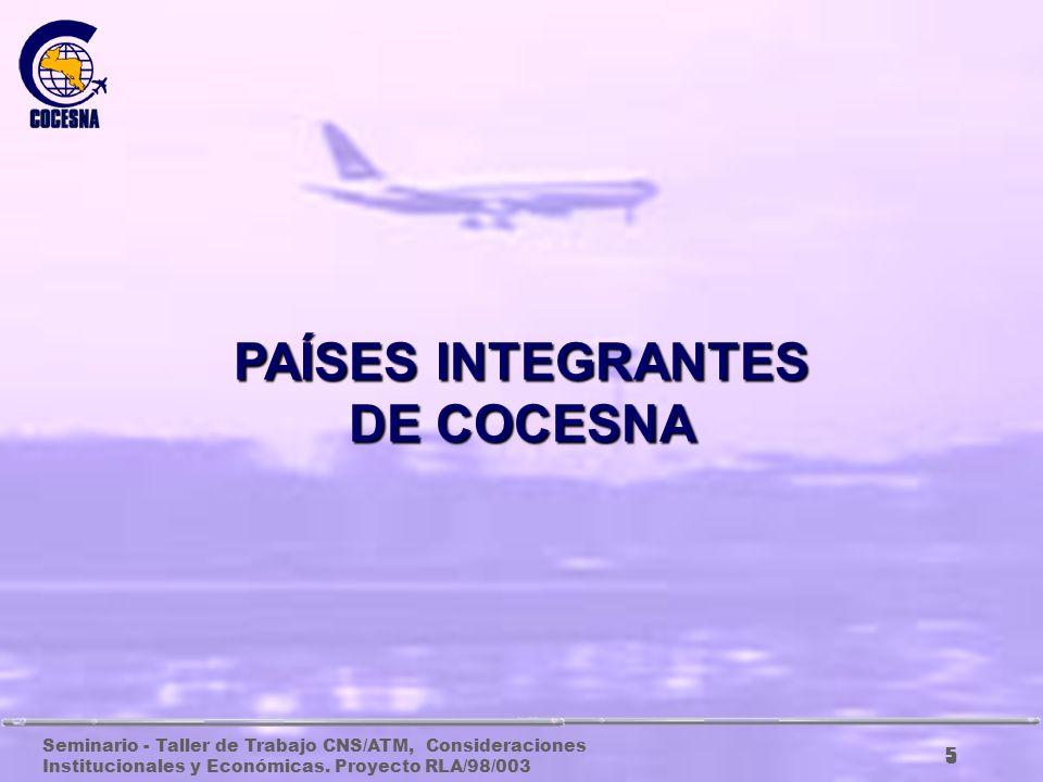 PAÍSES INTEGRANTES DE COCESNA