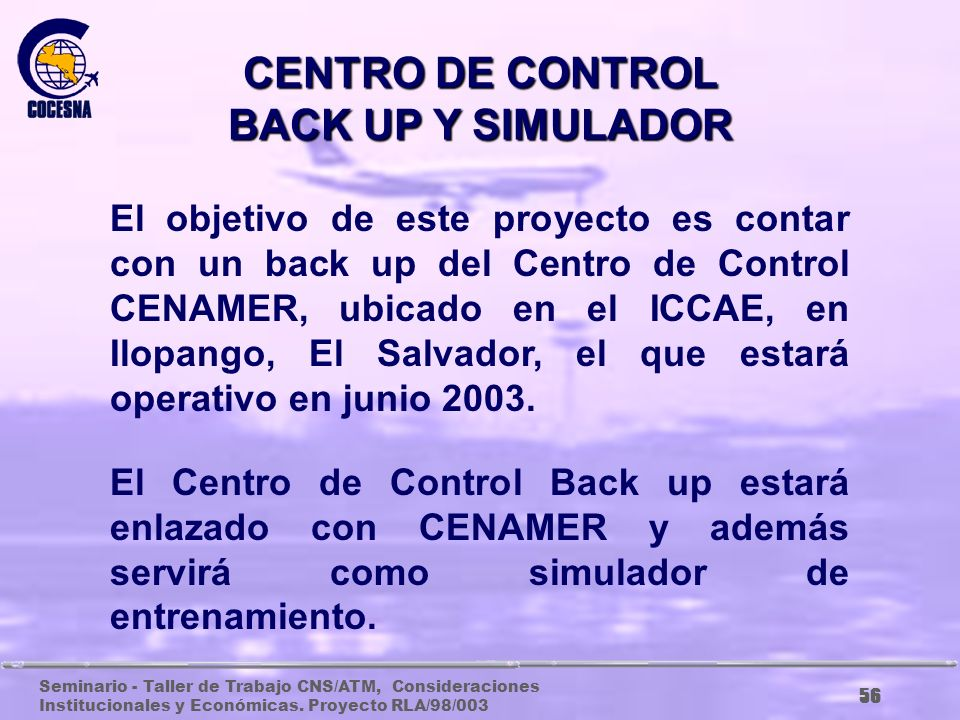 CENTRO DE CONTROL BACK UP Y SIMULADOR