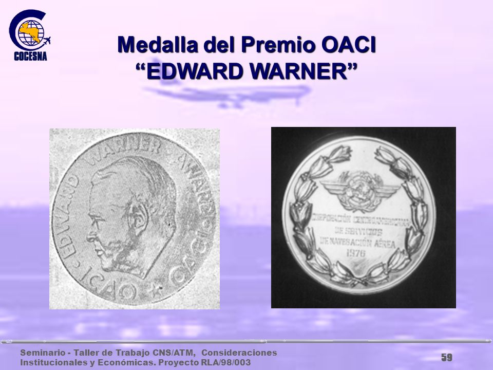 Medalla del Premio OACI EDWARD WARNER