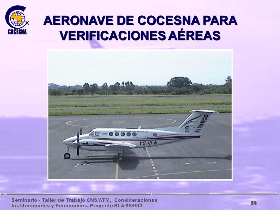 AERONAVE DE COCESNA PARA VERIFICACIONES AÉREAS