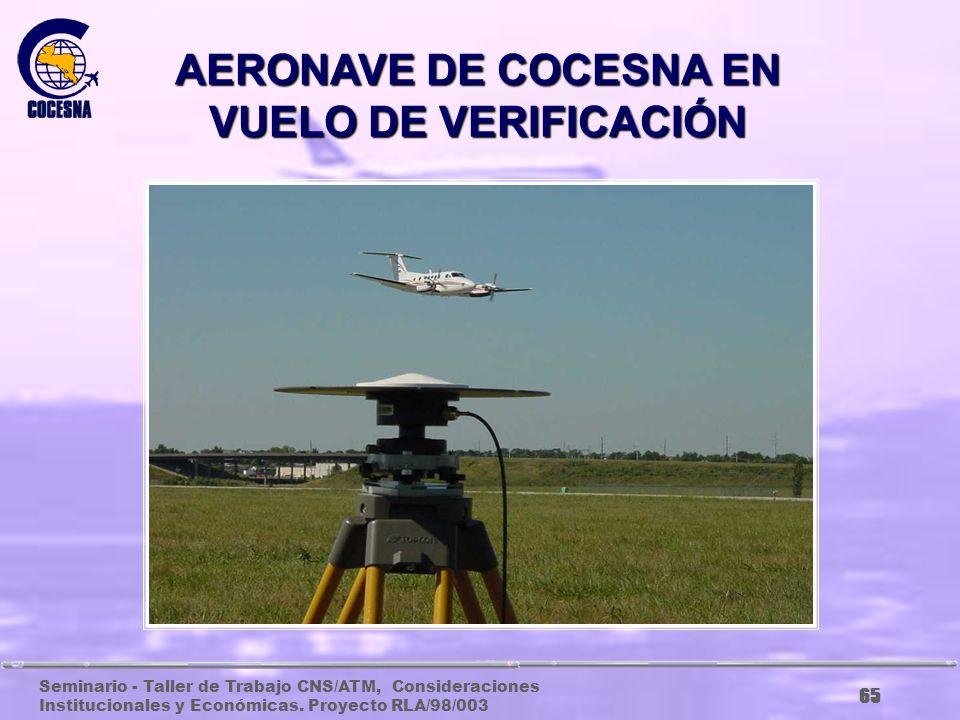 AERONAVE DE COCESNA EN VUELO DE VERIFICACIÓN