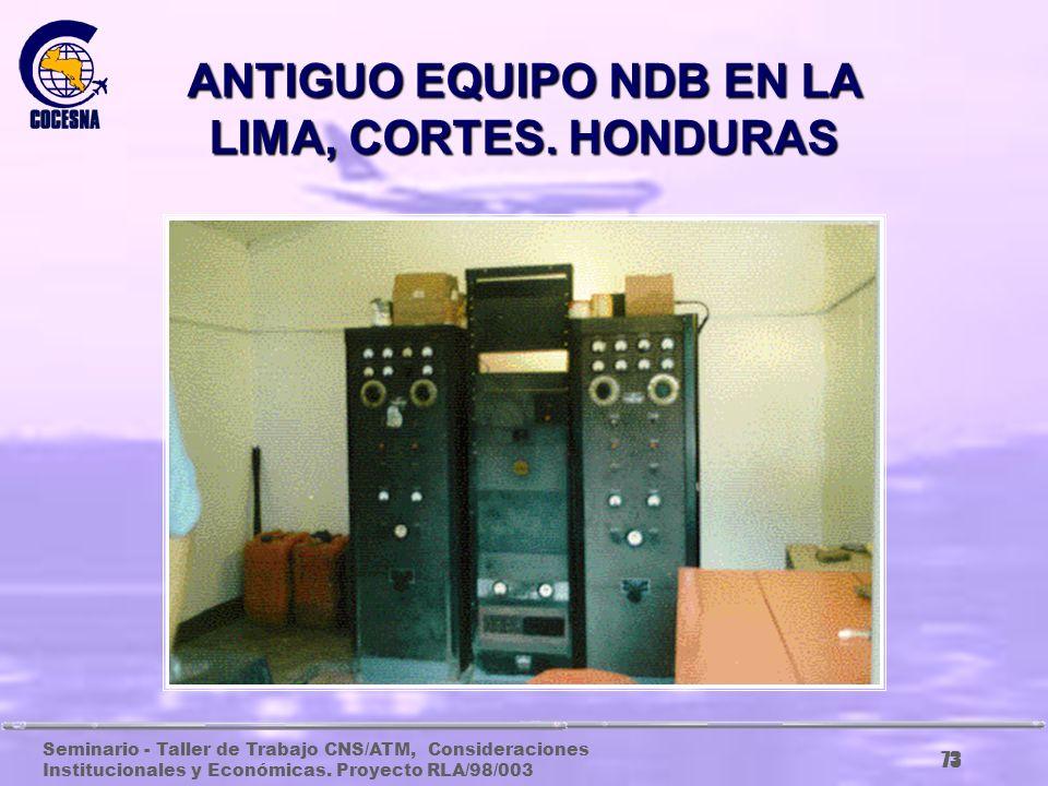 ANTIGUO EQUIPO NDB EN LA LIMA, CORTES. HONDURAS