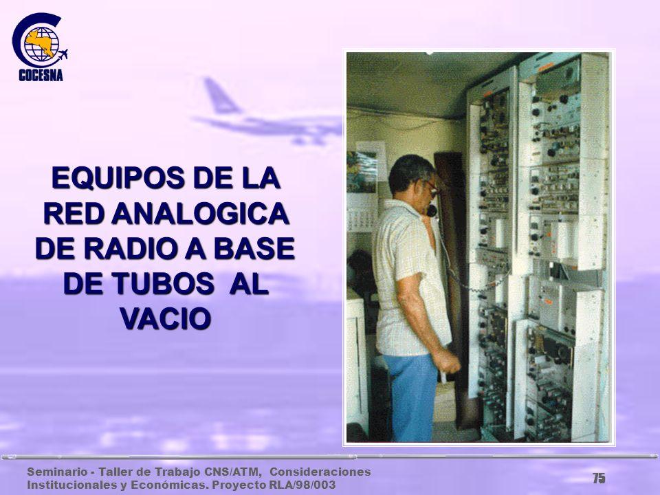 EQUIPOS DE LA RED ANALOGICA DE RADIO A BASE DE TUBOS AL VACIO