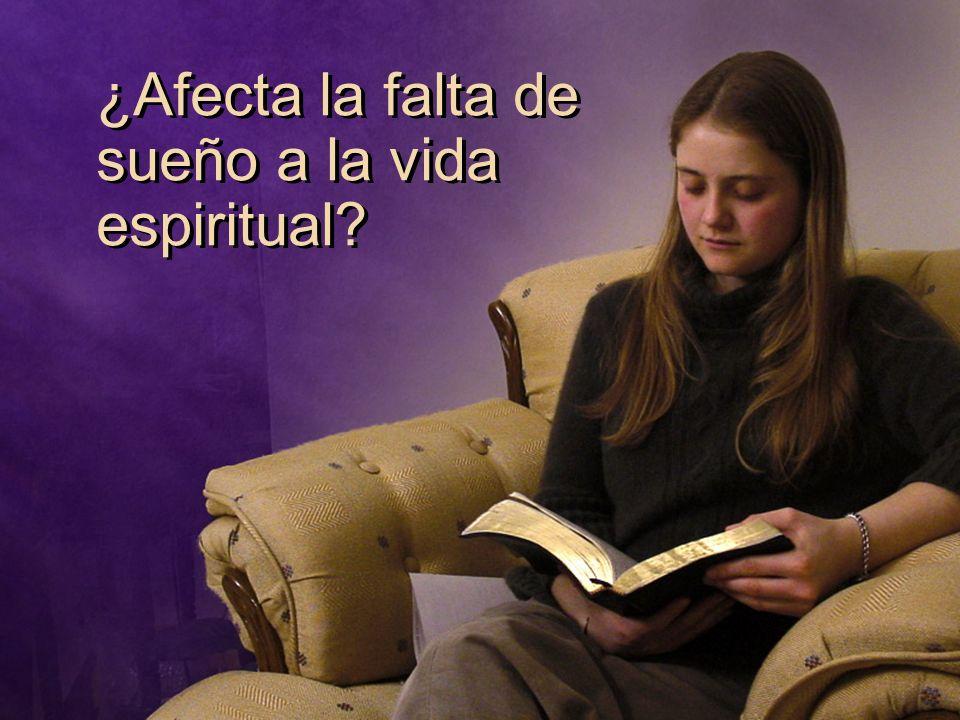 ¿Afecta la falta de sueño a la vida espiritual