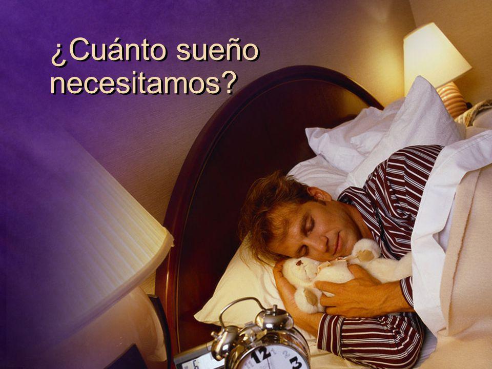 ¿Cuánto sueño necesitamos