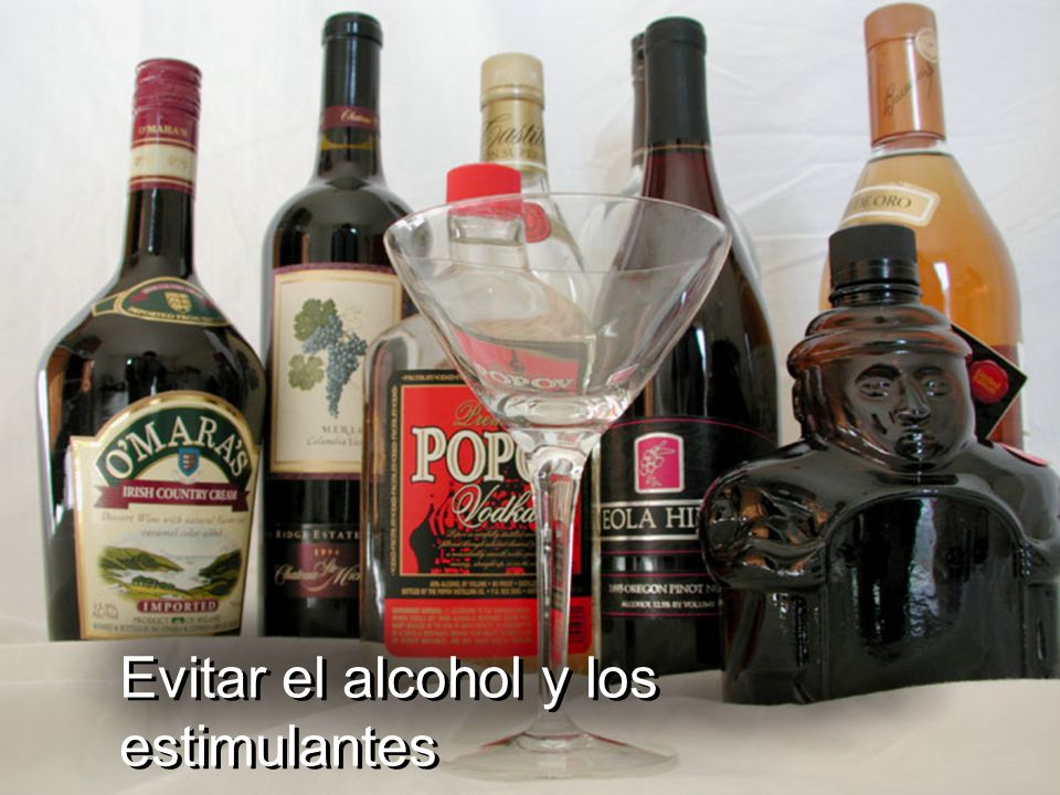 Evitar el alcohol y los estimulantes