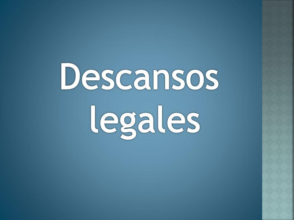 Descansos legales