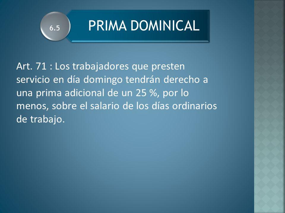 PRIMA DOMINICAL 6.5.