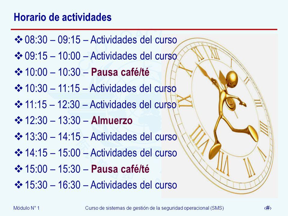 Horario de actividades