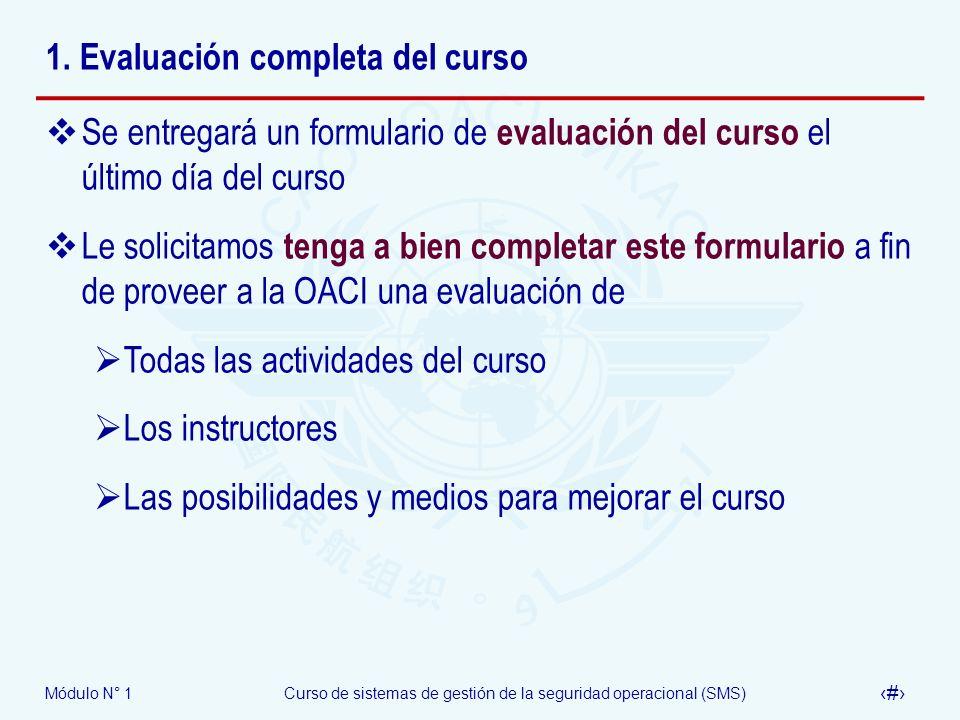 1. Evaluación completa del curso