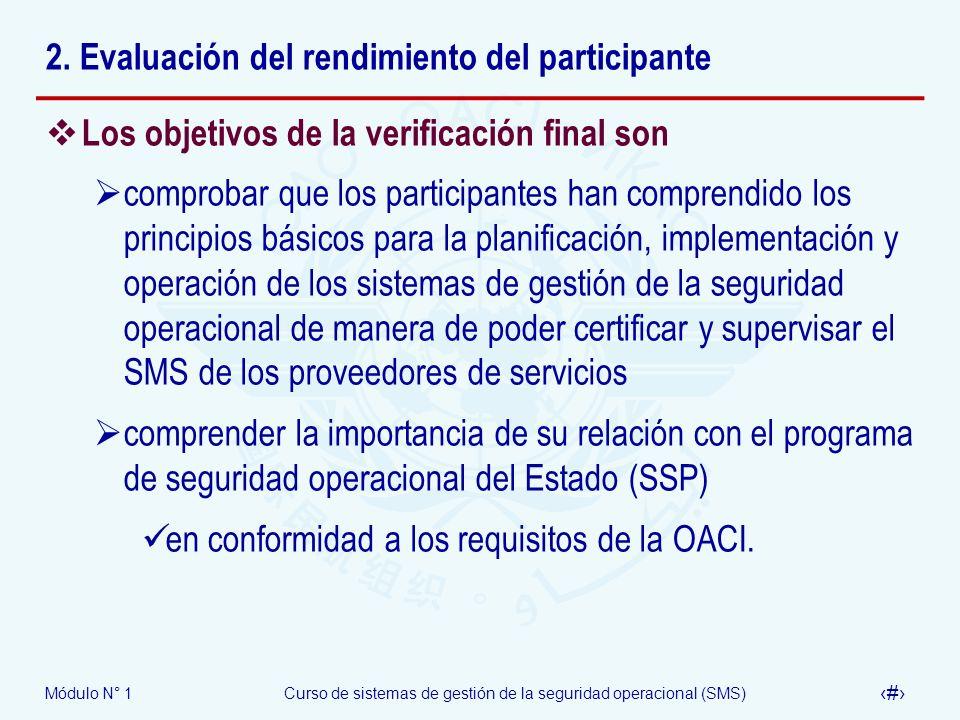 2. Evaluación del rendimiento del participante