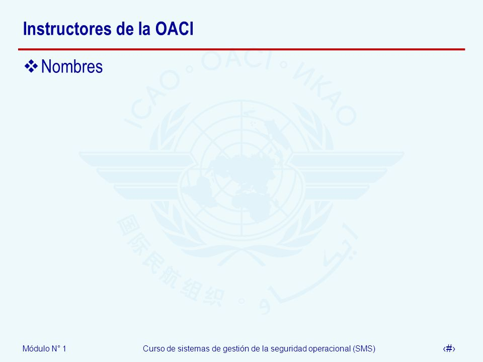 Instructores de la OACI
