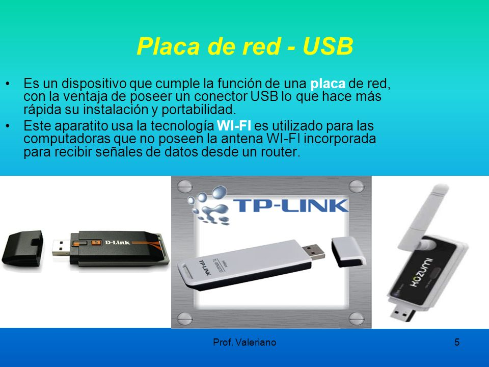 Placa de red - USB