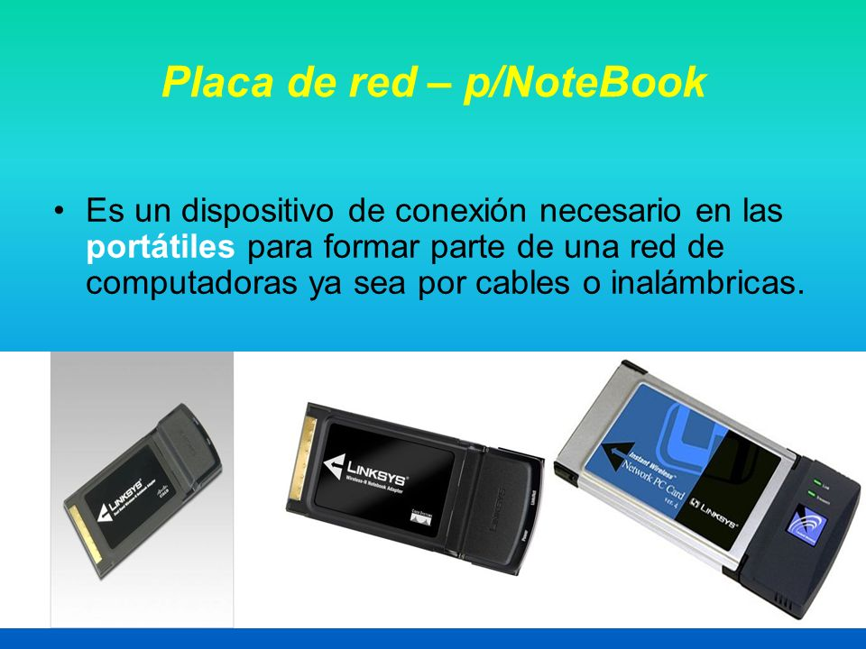 Placa de red – p/NoteBook