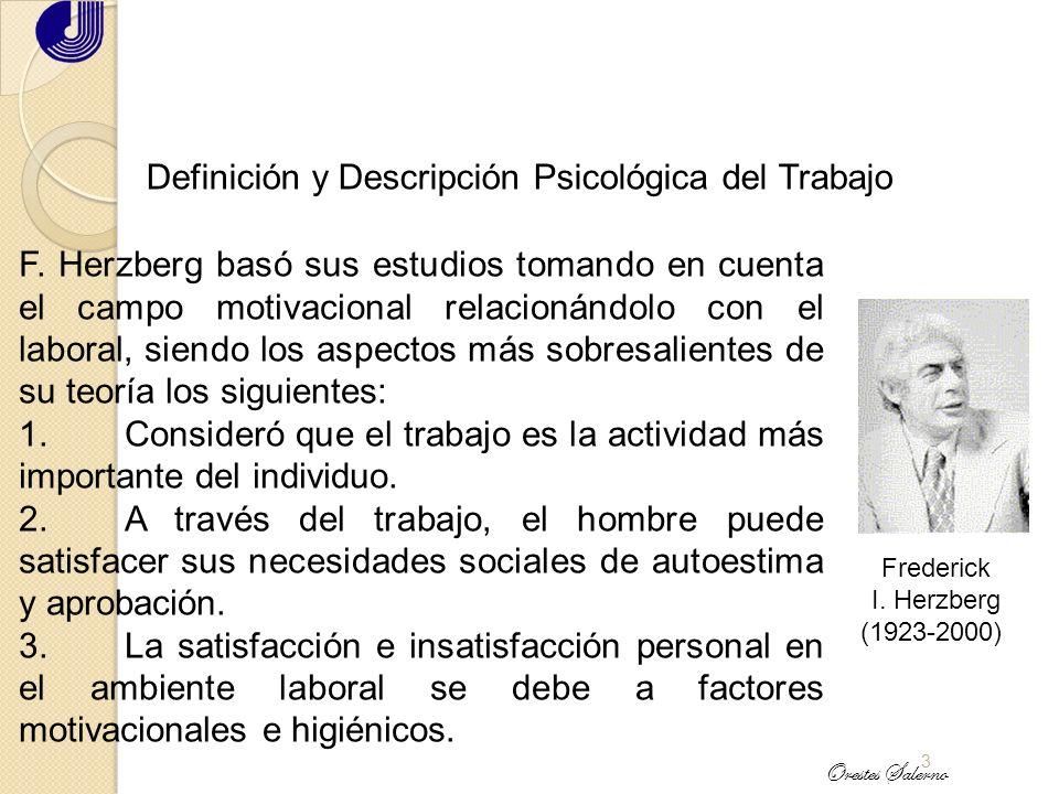 Definición y Descripción Psicológica del Trabajo