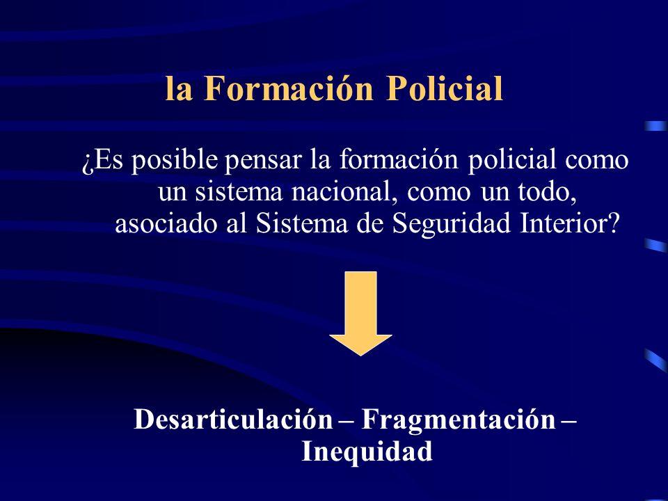 Desarticulación – Fragmentación – Inequidad