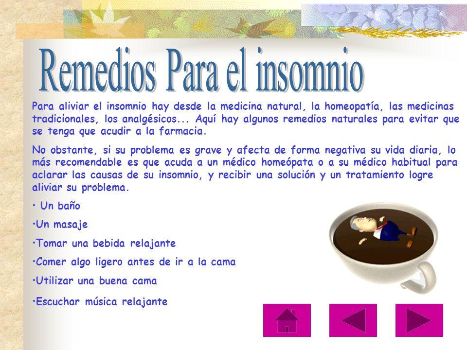 Remedios Para el insomnio
