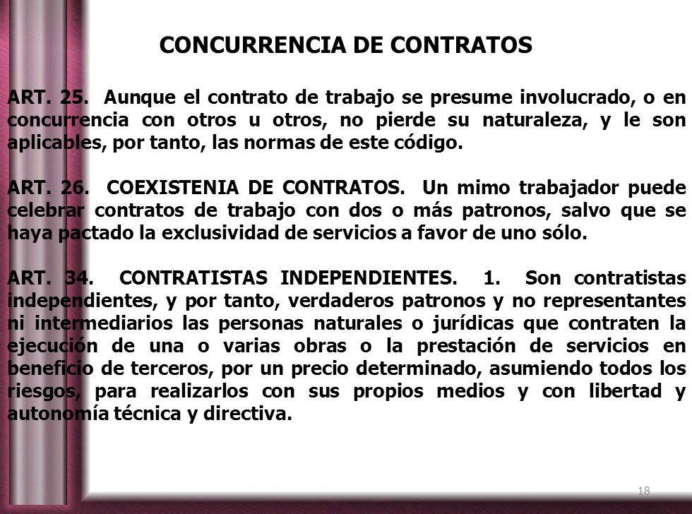 CONCURRENCIA DE CONTRATOS