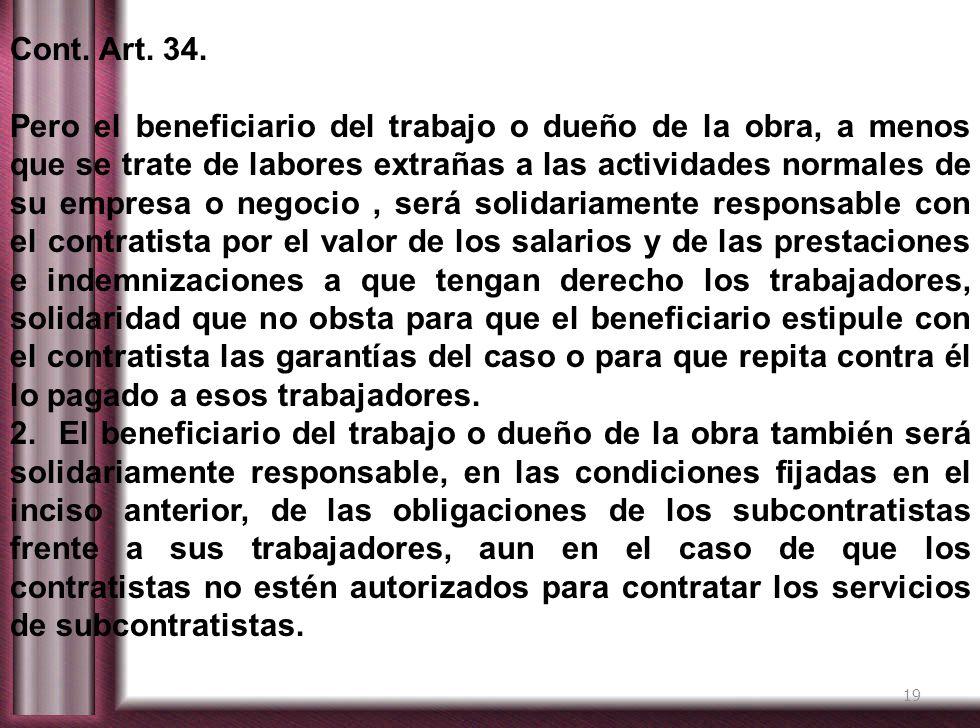 Cont. Art. 34.