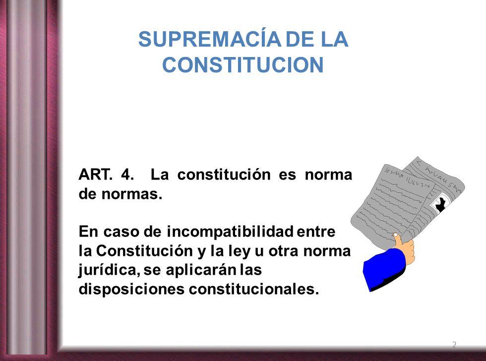 SUPREMACÍA DE LA CONSTITUCION
