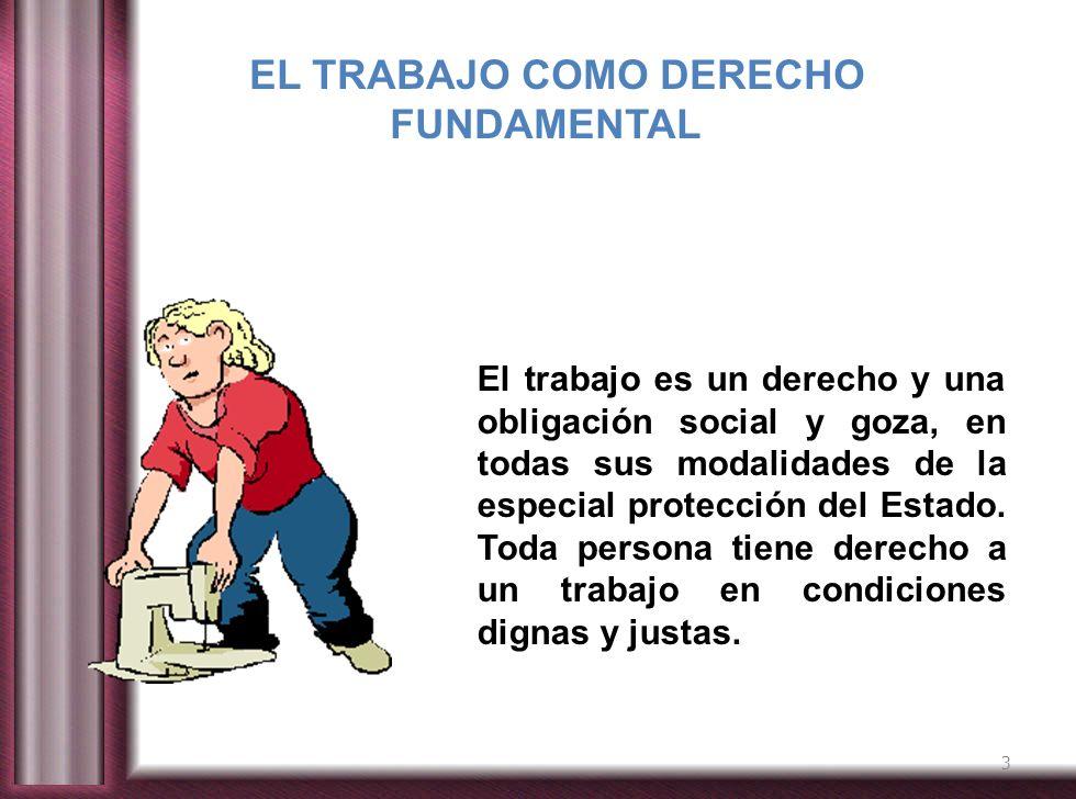 EL TRABAJO COMO DERECHO FUNDAMENTAL