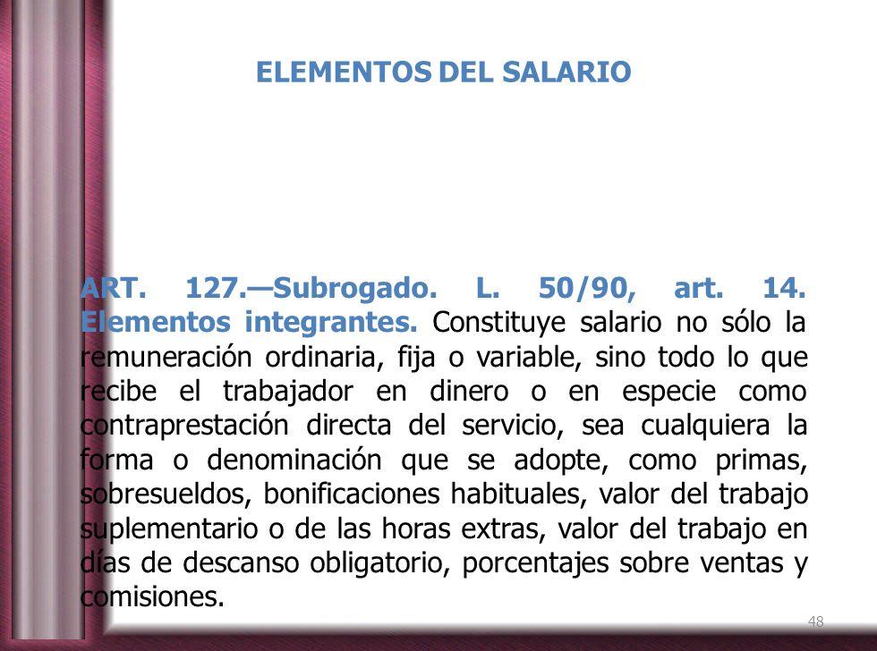 ELEMENTOS DEL SALARIO