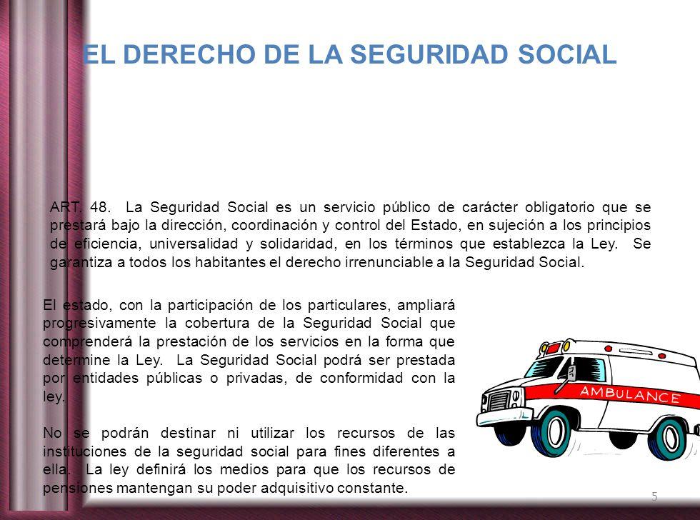 EL DERECHO DE LA SEGURIDAD SOCIAL
