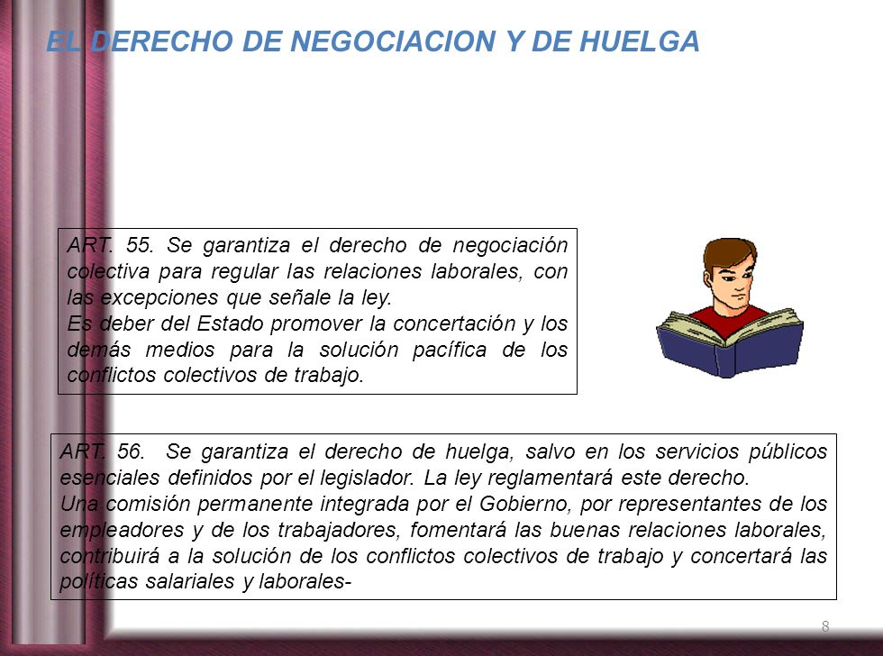 EL DERECHO DE NEGOCIACION Y DE HUELGA