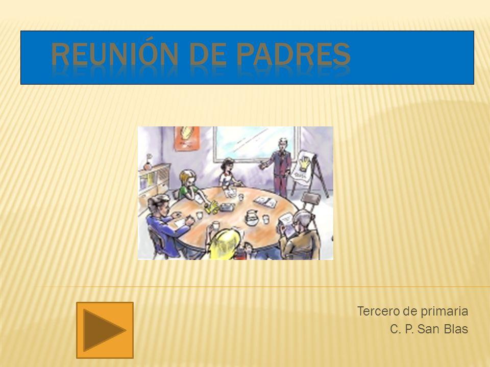 Tercero de primaria C. P. San Blas