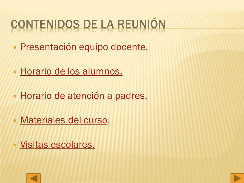 CONTENIDOS DE LA REUNIÓN