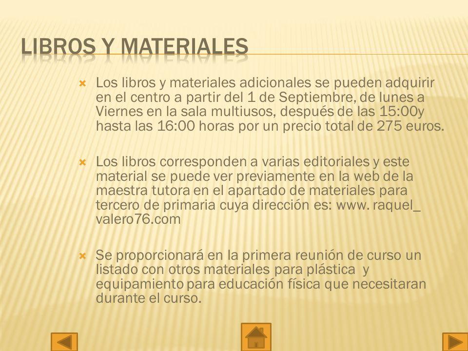 LIBROS Y MATERIALES