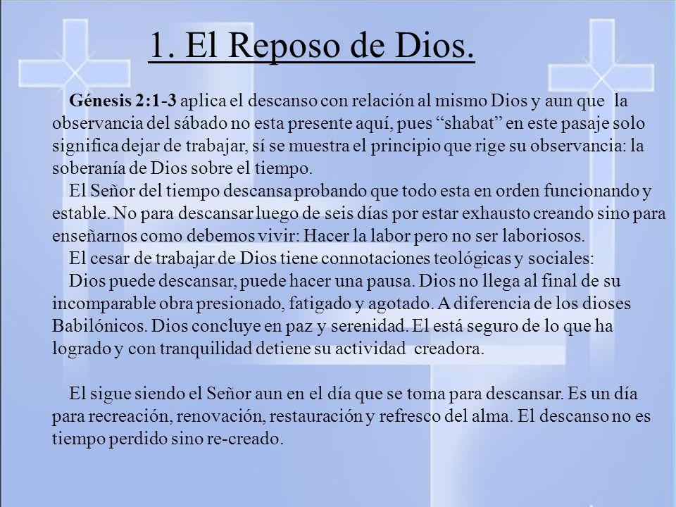 1. El Reposo de Dios.