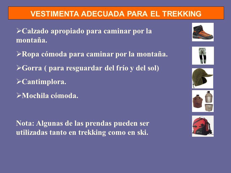 VESTIMENTA ADECUADA PARA EL TREKKING