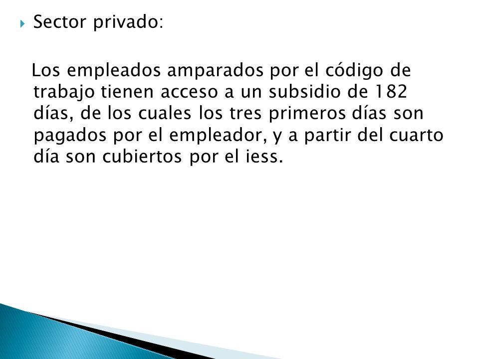 Sector privado: