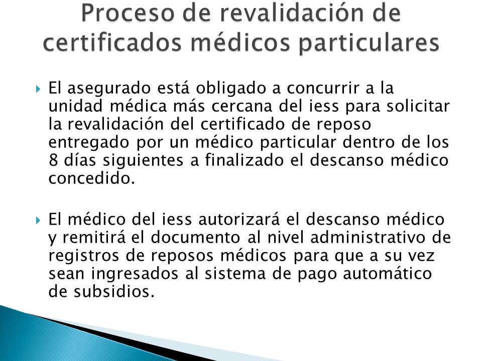 Proceso de revalidación de certificados médicos particulares