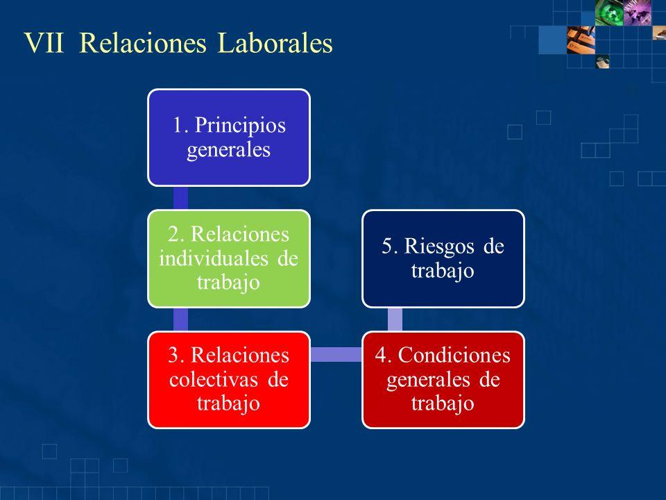 VII Relaciones Laborales