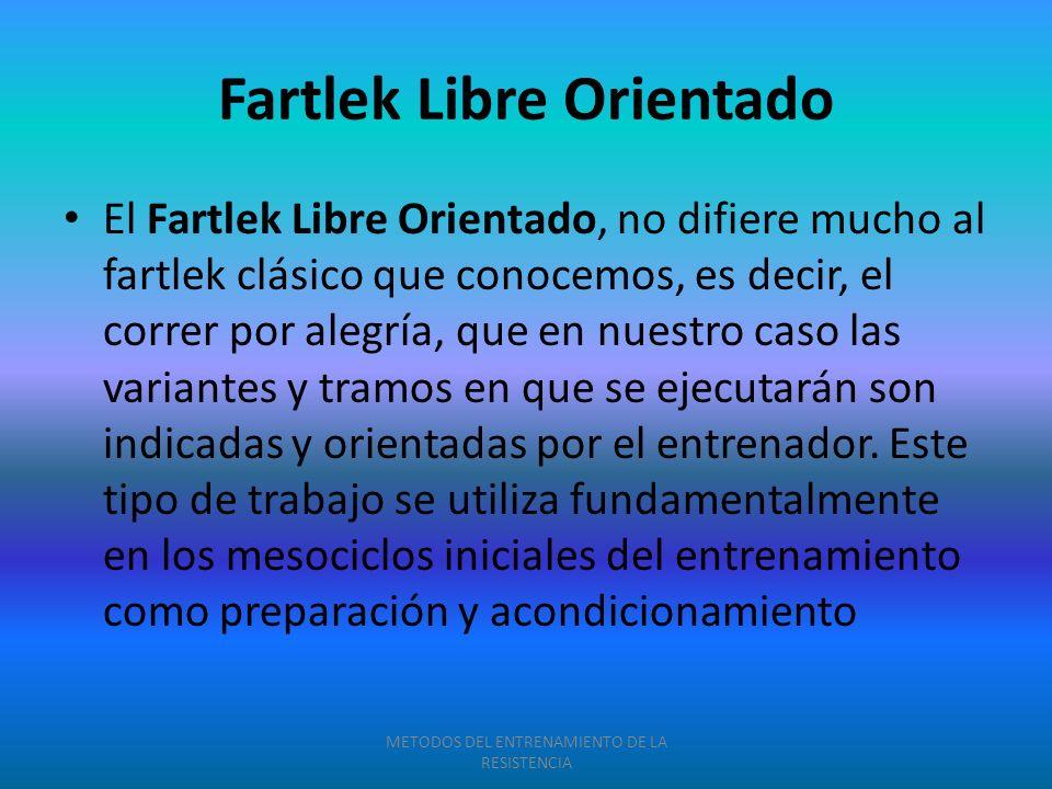 Fartlek Libre Orientado