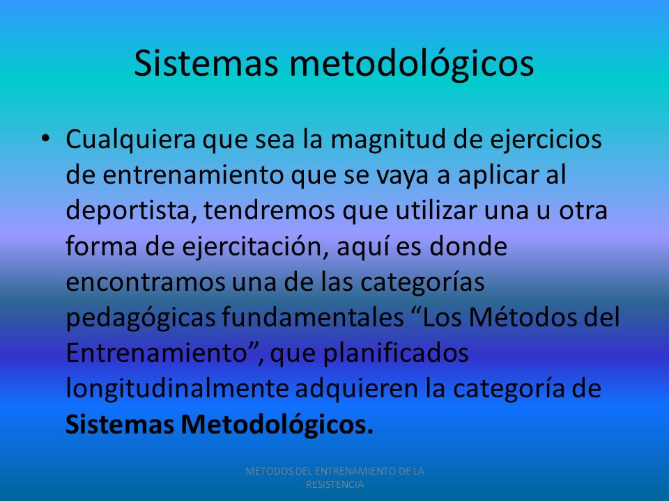 Sistemas metodológicos
