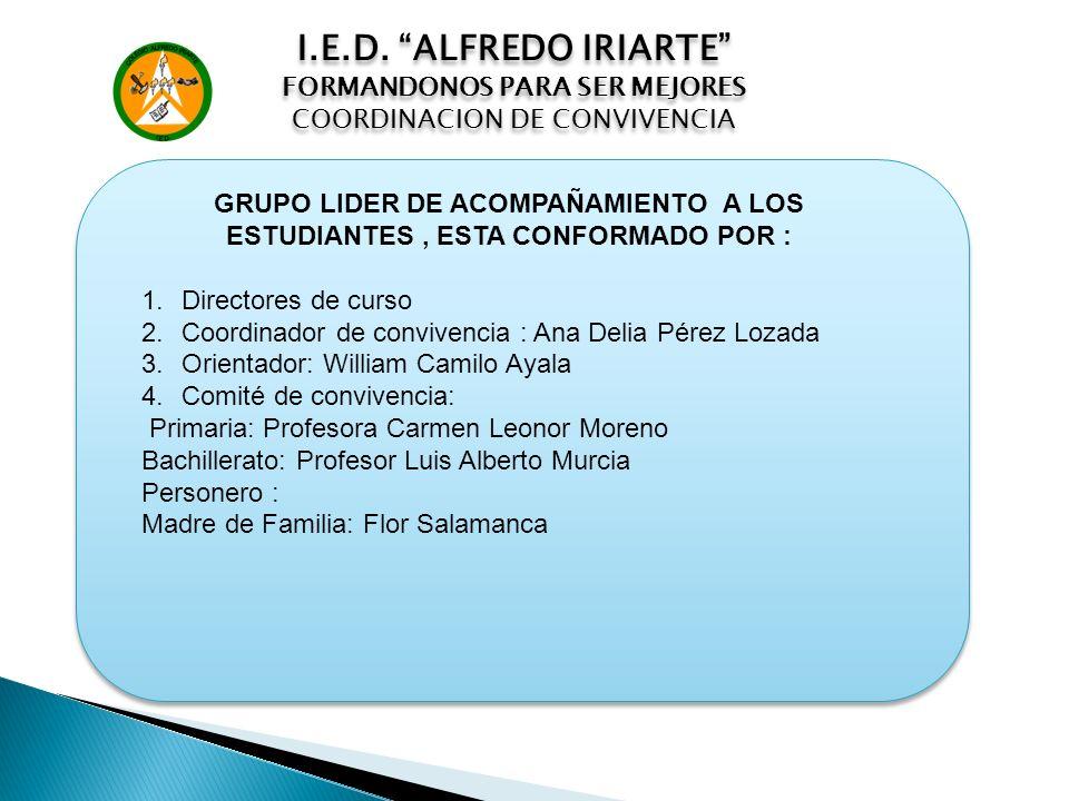 I.E.D. ALFREDO IRIARTE FORMANDONOS PARA SER MEJORES