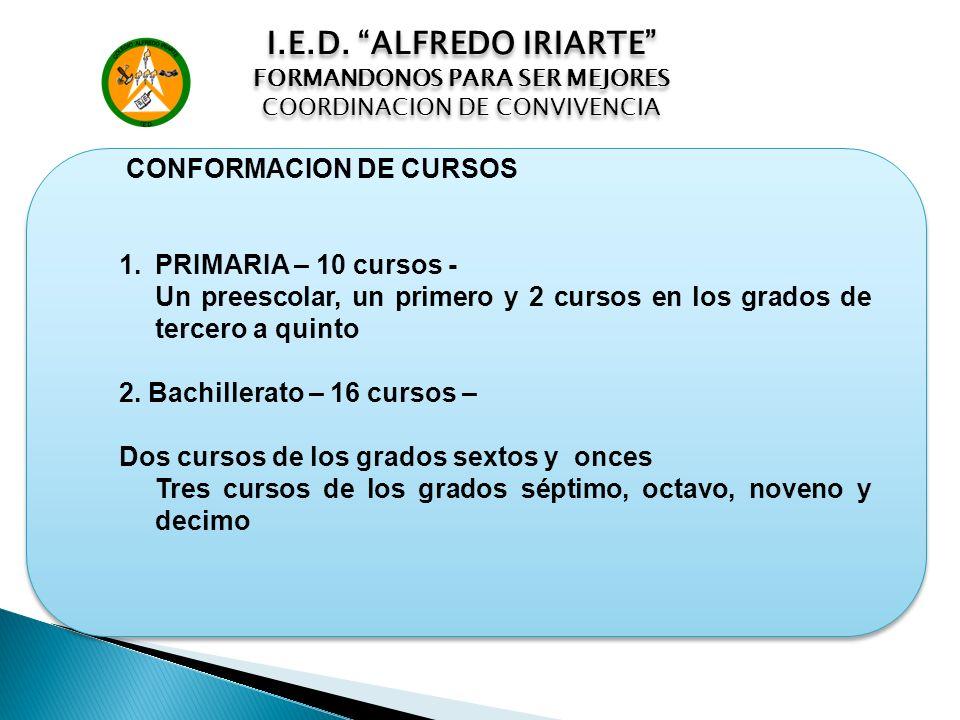 I.E.D. ALFREDO IRIARTE PRIMARIA – 10 cursos -