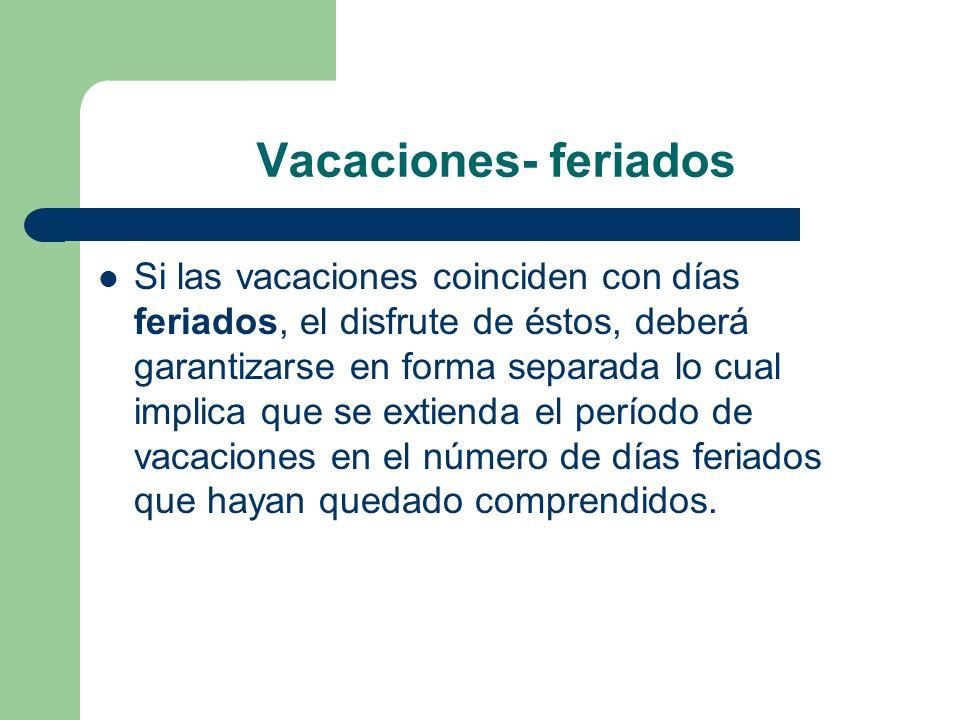 Vacaciones- feriados
