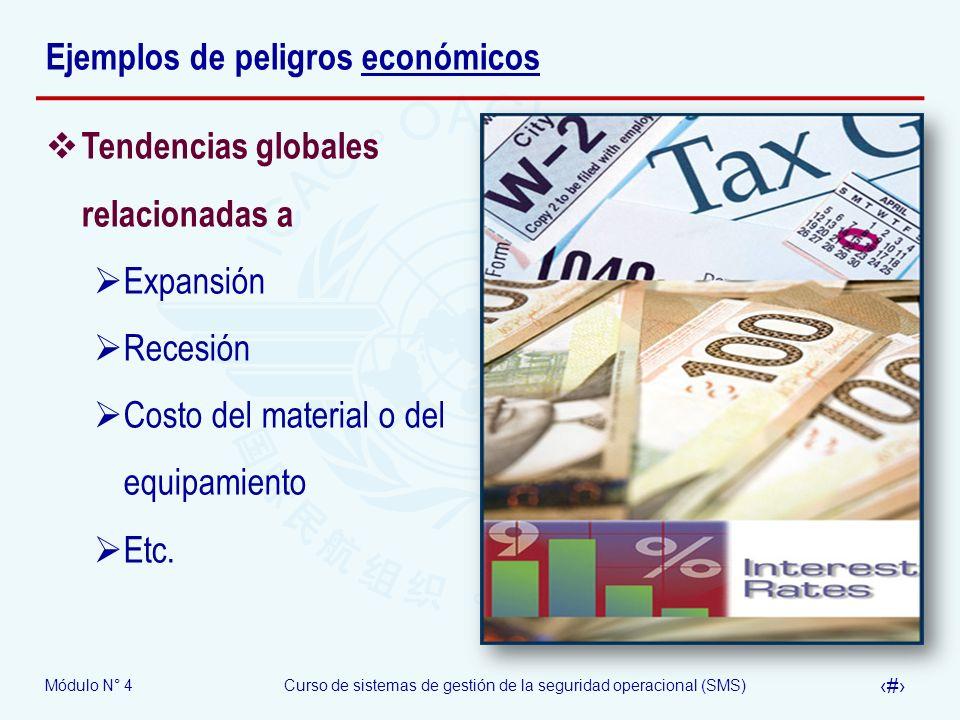 Ejemplos de peligros económicos
