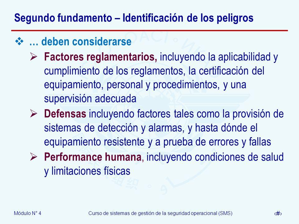 Segundo fundamento – Identificación de los peligros