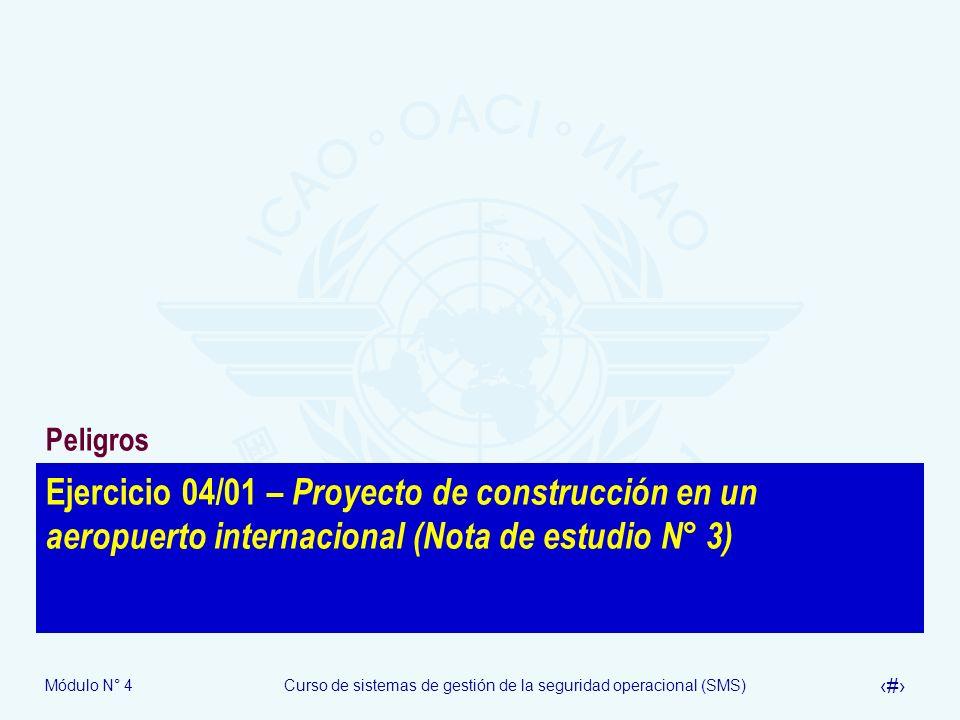 Peligros Ejercicio 04/01 – Proyecto de construcción en un aeropuerto internacional (Nota de estudio N° 3)