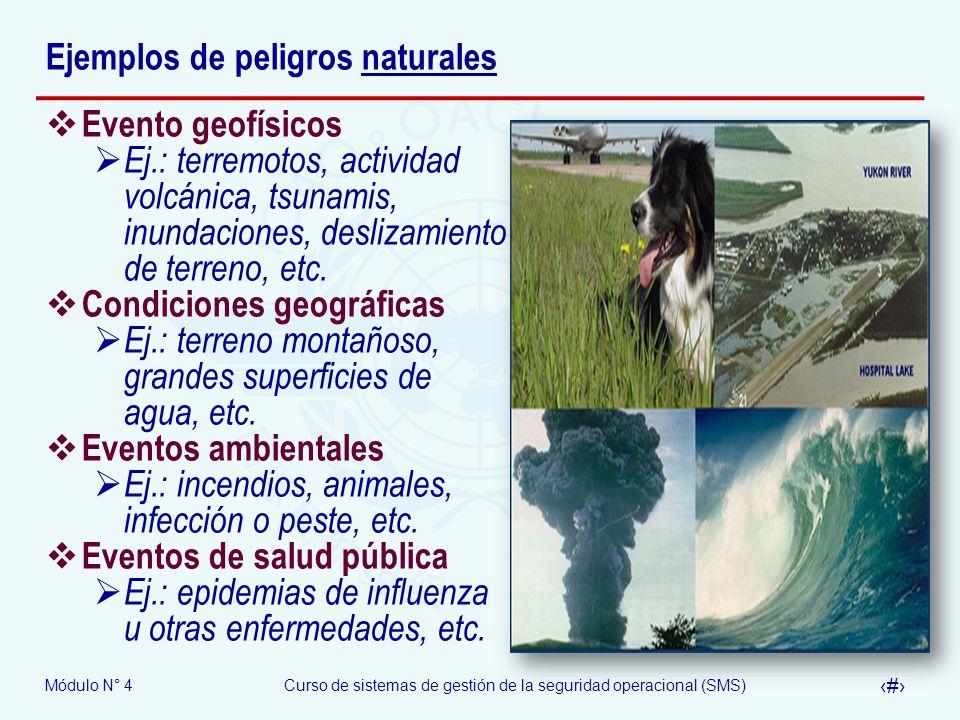 Ejemplos de peligros naturales